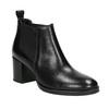 Dámská kožená kotníčková obuv bata, černá, 694-6641 - 13