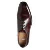 Pánské kožené Oxford polobotky bata, červená, 826-5683 - 26