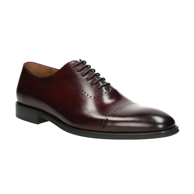 Pánské kožené Oxford polobotky bata, červená, 826-5683 - 13