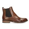 Kožená hnědá dámská Chelsea obuv bata, hnědá, 594-4636 - 19