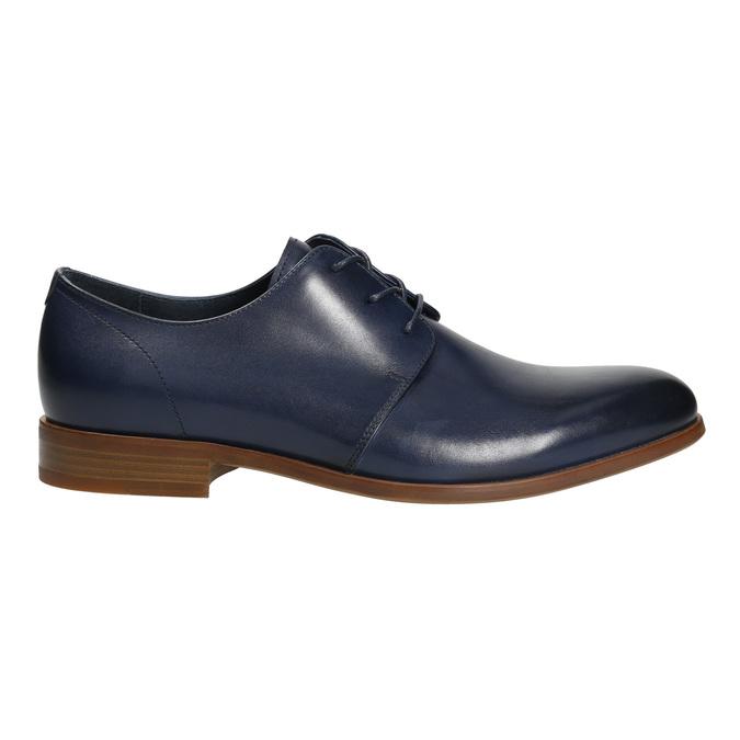 Modré kožené polobotky bata, modrá, 826-9680 - 15