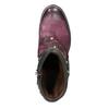 Kožená kotníčková obuv a-s-98, fialová, 516-5093 - 15