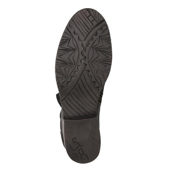 Kožená kotníčková obuv s přezkou a-s-98, zelená, 516-3092 - 17