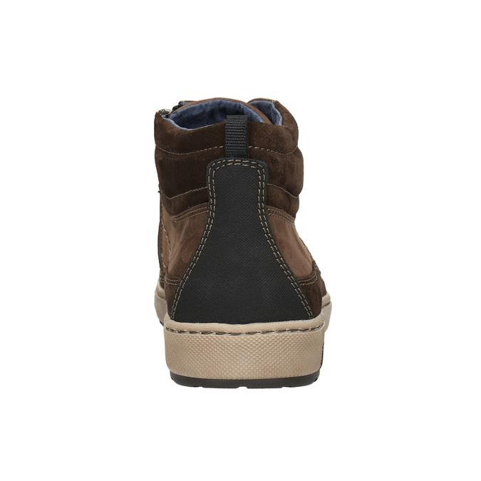 Kotníčkové pánské tenisky bata, hnědá, 846-4651 - 17