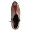 Kožená kotníčková obuv na nízkém podpatku gabor, hnědá, 616-3112 - 15