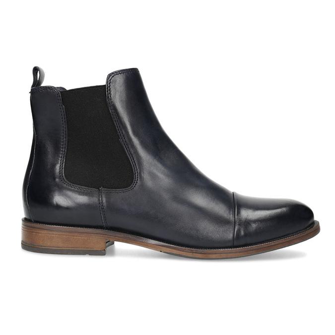 Dámská kožená Chelsea obuv bata, černá, 594-9636 - 19