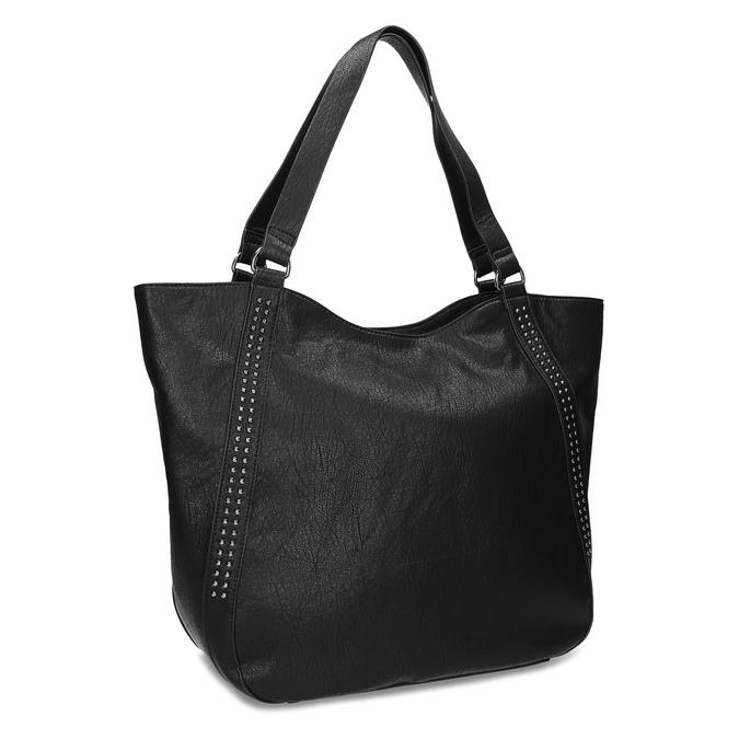 Černá kabelka se cvoky bata, černá, 961-6787 - 13