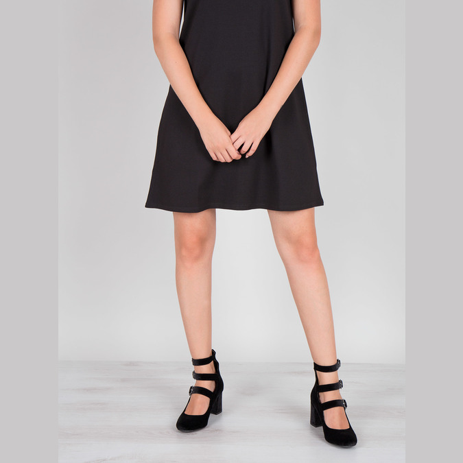 Sametové lodičky s pásky bata, černá, 629-6632 - 14