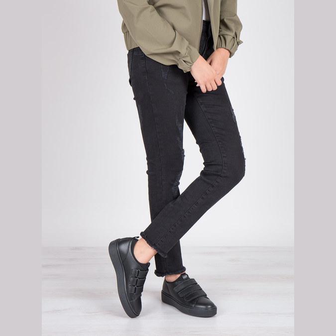 Černé kožené tenisky na suché zipy bata, černá, 526-6646 - 19