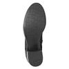 Černé kožené kozačky bata, černá, 696-6646 - 17