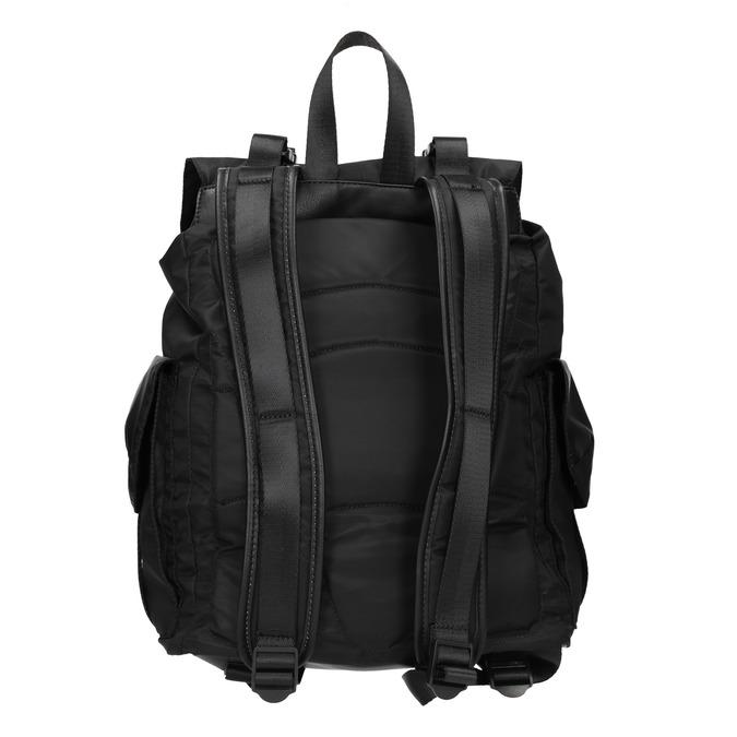 Černý batoh s kapsami bata, černá, 969-6163 - 16