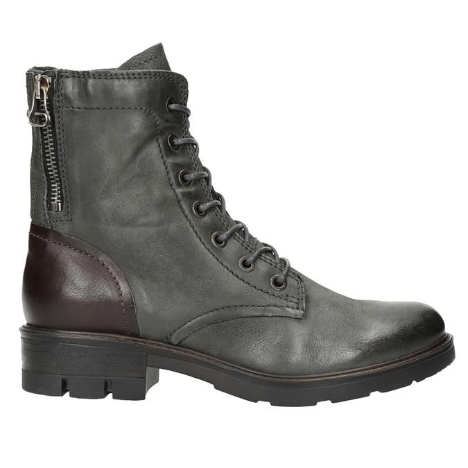 Kožená dámská obuv bata, šedá, 596-2616 - 26