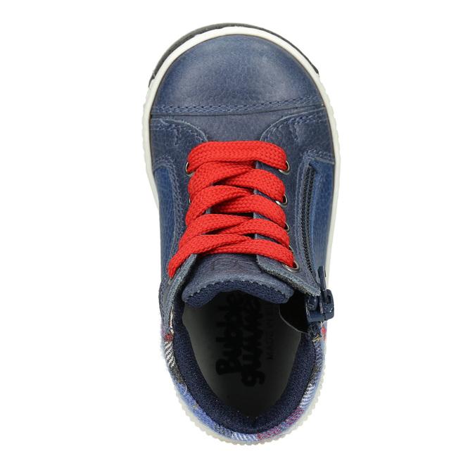 Dětská kožená kotníčková obuv bubblegummers, modrá, 114-9603 - 15