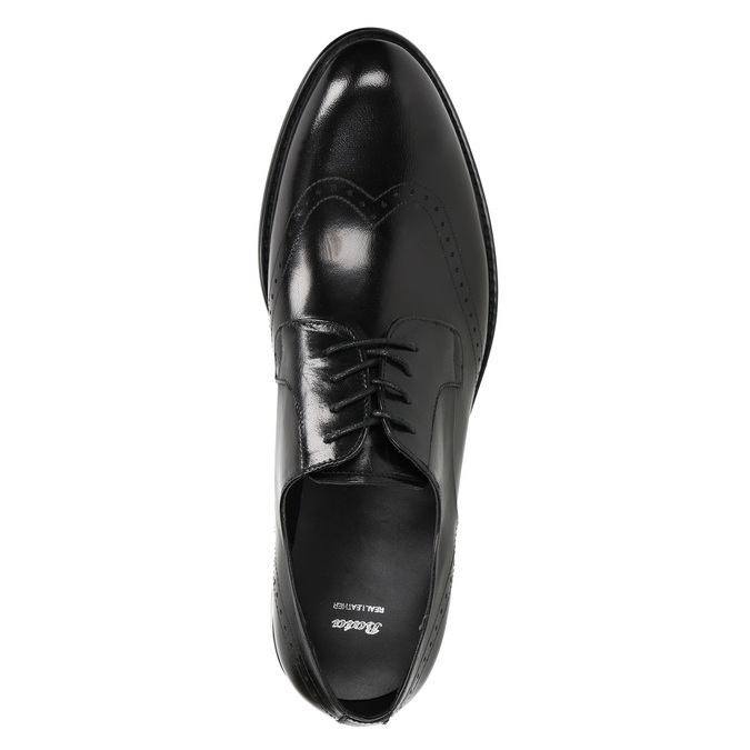 Pánské kožené Brogue polobotky bata, černá, 824-6227 - 19