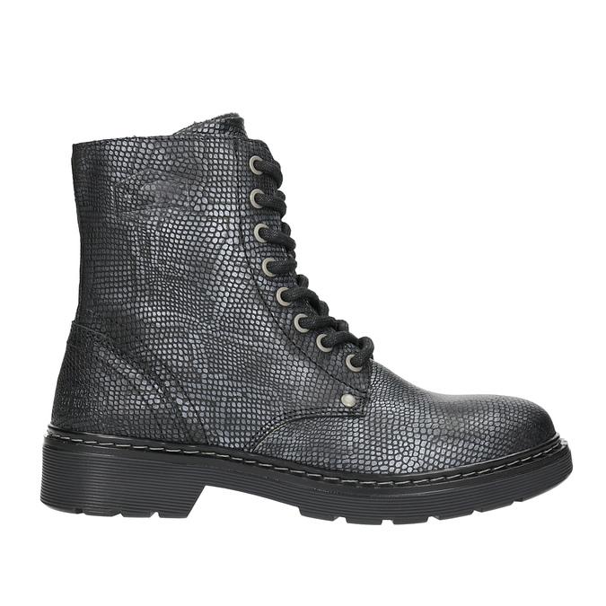 Dětské kožené šněrovací boty bullboxer, černá, 496-6016 - 26