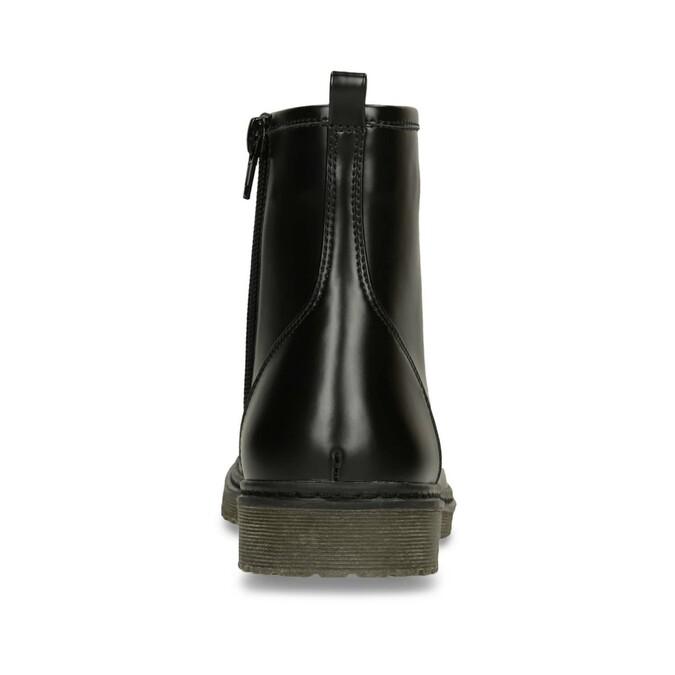 Šněrovací dětská obuv mini-b, černá, 391-6407 - 15