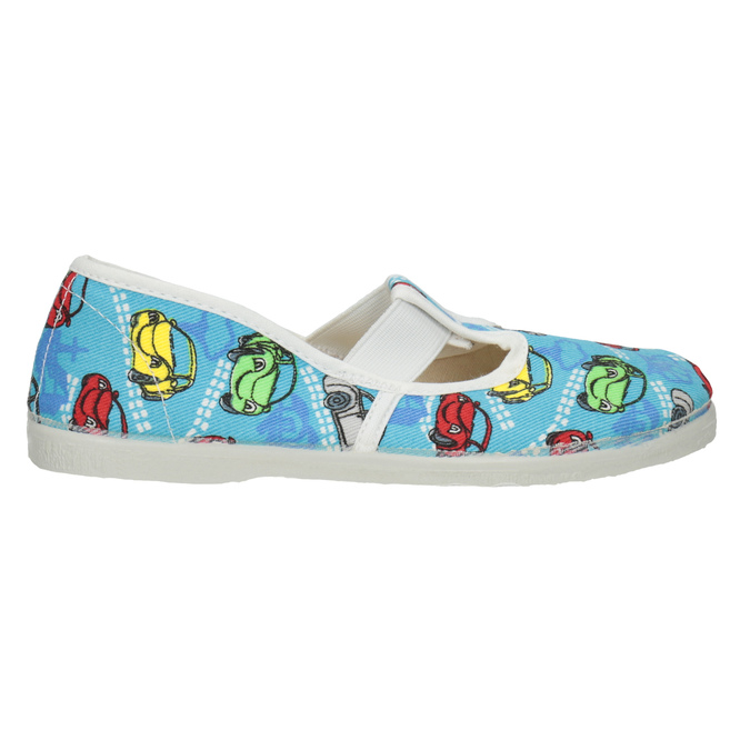 Dětská domácí obuv s autíčky bata, modrá, 279-9105 - 26