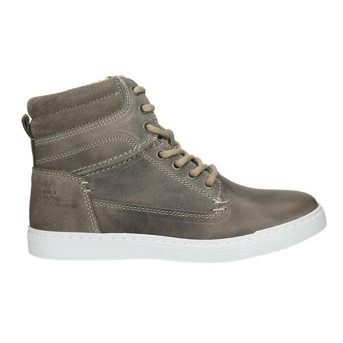 Dětská kotníčková obuv kožená bullboxer, šedá, 494-8023 - 26