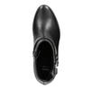 Kožená kotníčková obuv černá bata, černá, 596-6669 - 15
