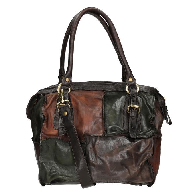 Kožená kabelka ve stylu Patchwork a-s-98, vícebarevné, 966-0062 - 16