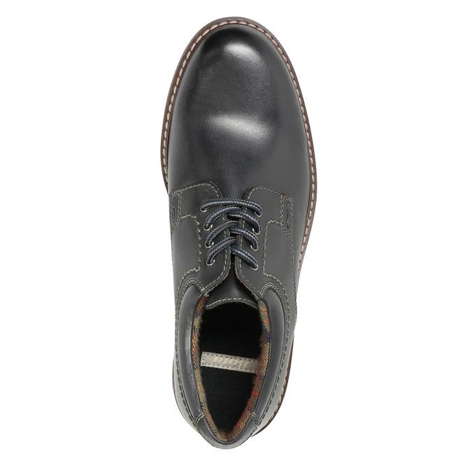 Kožené pánské polobotky bata, černá, 826-6619 - 19