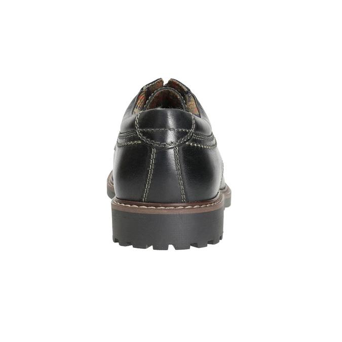 Kožené pánské polobotky bata, černá, 826-6619 - 17