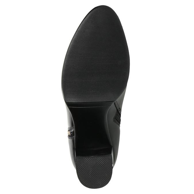 Kožené kotníčkové kozačky bata, černá, 694-6640 - 19