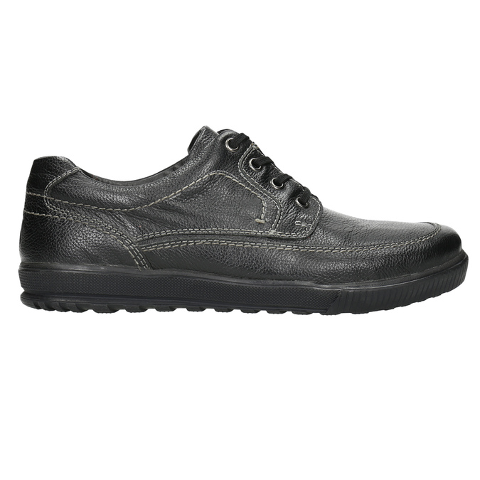 Kožené polobotky s ležérní podešví bata, černá, 824-6925 - 15
