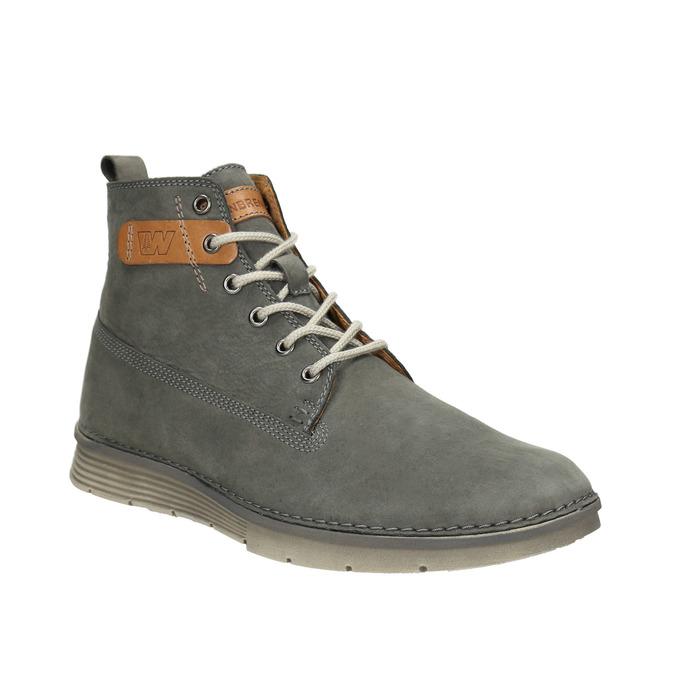 Kožená kotníčková obuv pánská weinbrenner, šedá, 846-2656 - 13