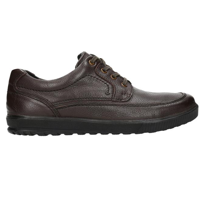 Ležérní kožené polobotky bata, hnědá, 824-4925 - 15