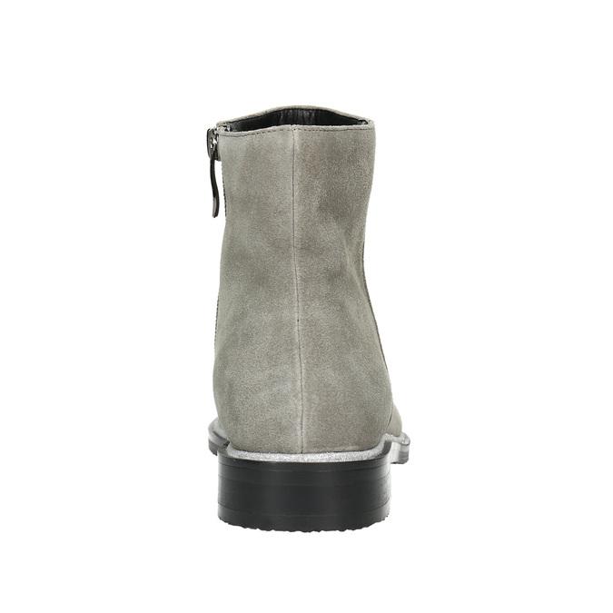Kotníčková obuv z broušené kůže bata, šedá, 593-2603 - 17