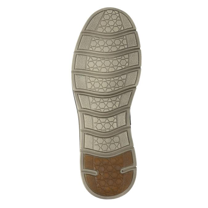 Kožená kotníčková obuv pánská weinbrenner, šedá, 846-2656 - 17