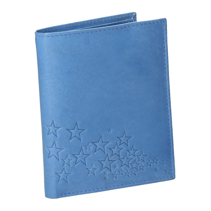 Modrá kožená peněženka bata, modrá, 944-9179 - 13