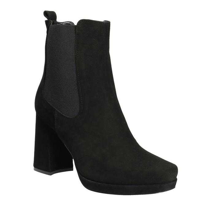 Kotníčkové kozačky na podpatku bata, černá, 793-6704 - 13