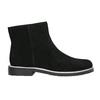 Kožená kotníčková obuv se stříbrným lemem bata, černá, 593-6603 - 15