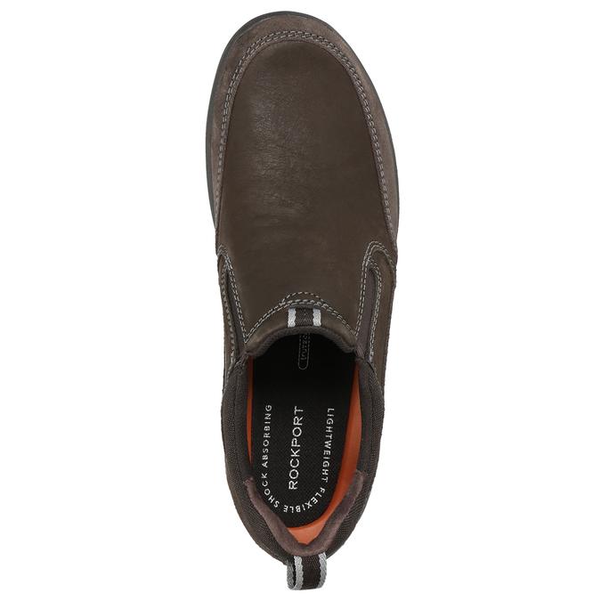 Ležérní kožené Slip-on rockport, hnědá, 816-4049 - 26