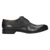 Kožené polobotky s modrým prošitím bata, černá, 826-6915 - 15