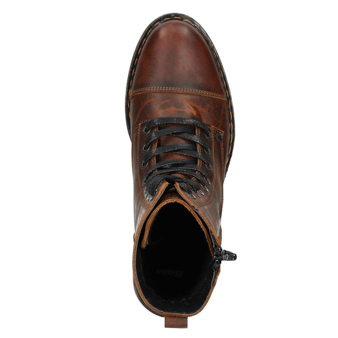 Dámská kotníčková obuv se zipem bata, hnědá, 596-3681 - 15