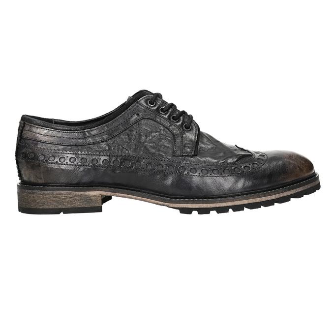 Ležérní pánské polobotky bata, hnědá, 826-4916 - 15