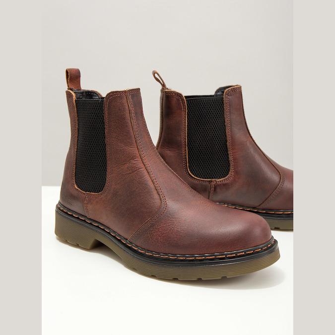 Kožená dámská Chelsea obuv bata, hnědá, 596-3680 - 14