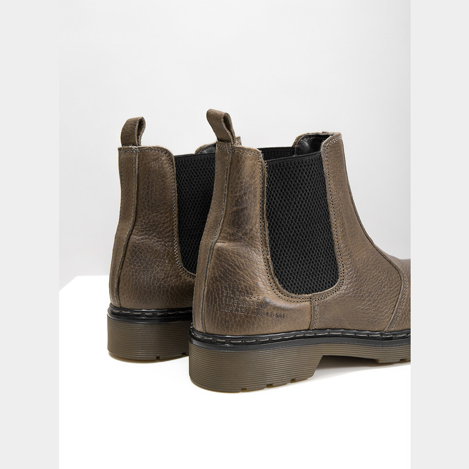 Dámská kožená Chelsea obuv bata, hnědá, 596-7680 - 14