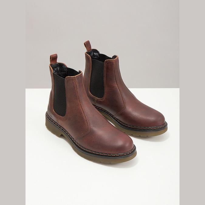 Kožená dámská Chelsea obuv bata, hnědá, 596-3680 - 18