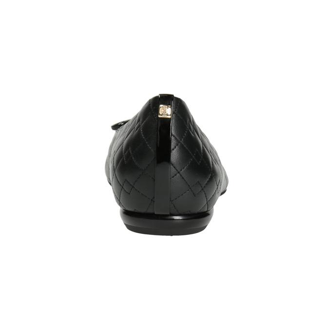 Kožené baleríny s prošitím hogl, černá, 524-6068 - 16