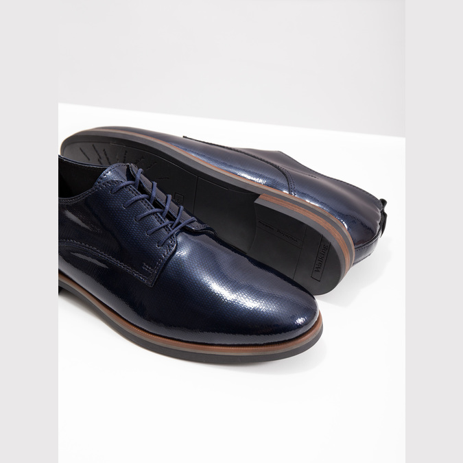 Kožené dámské polobotky bata, modrá, 528-9600 - 18