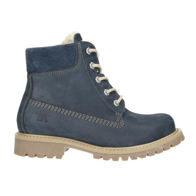 Dětská zimní obuv s kožíškem weinbrenner-junior, modrá, 416-9600 - 15