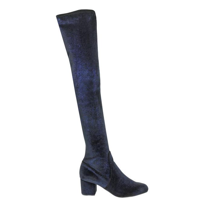 Dámské kozačky nad kolena modré steve-madden, modrá, 719-9024 - 26