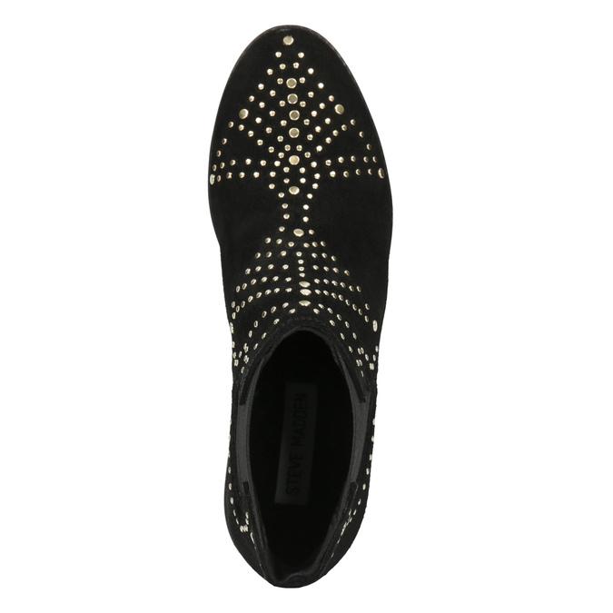 Kotníčková obuv se zlatou aplikací steve-madden, černá, 513-6082 - 15