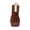 Kožená dámská kotníčková obuv gant, hnědá, 513-4062 - 17