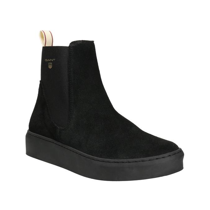 Dámská kožená kotníčková obuv gant, černá, 513-6062 - 13
