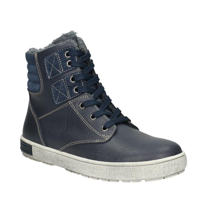 Kožená dětská kotníčková obuv mini-b, modrá, 494-9655 - 13